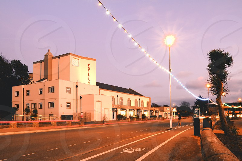 The Exmouth Pavilion in Devon UK is a theatre and music venue that overlooks the sea. photo