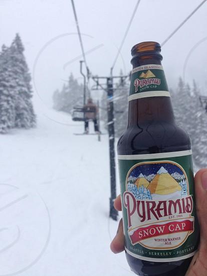 Snow Cap on the Mountain  photo