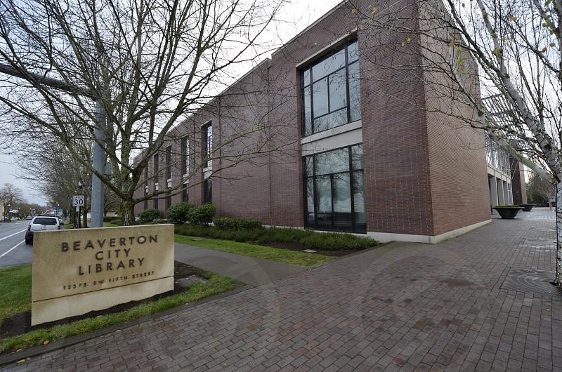 Beaverton Oregon downtown library  photo