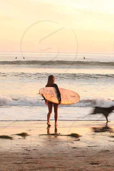 Santa Barbara surf California ocean sunset photo