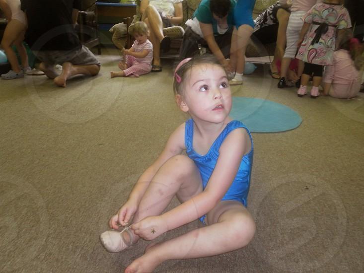 little girls first day at ballet photo