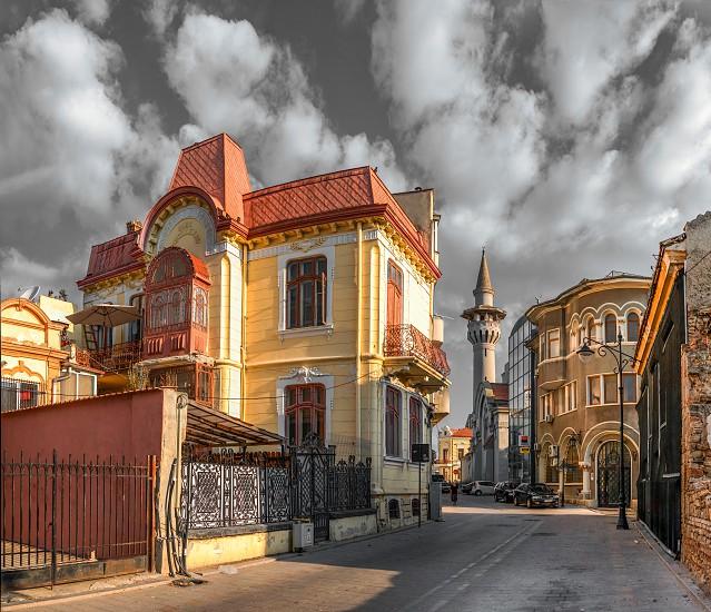 Constanta Romania – 07.09.2019.  Old town of Constanta Romania on a sunny summer day photo