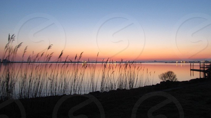 Dawn at the harbor in Cape May NJ photo