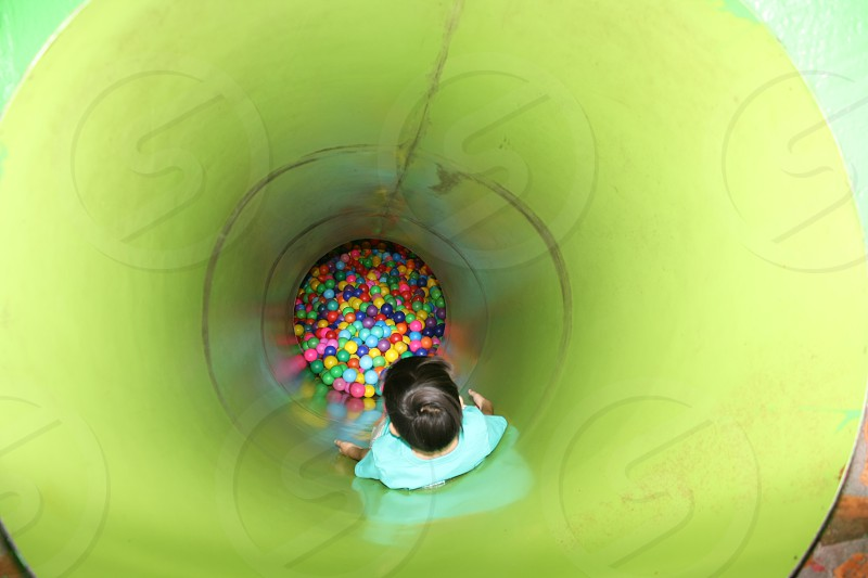 pipe in balls photo