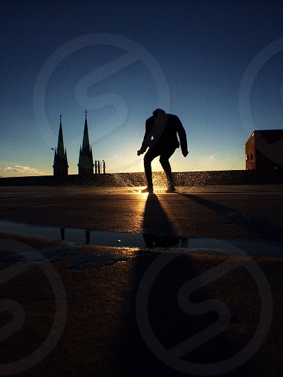 man in a silhouette photography  photo