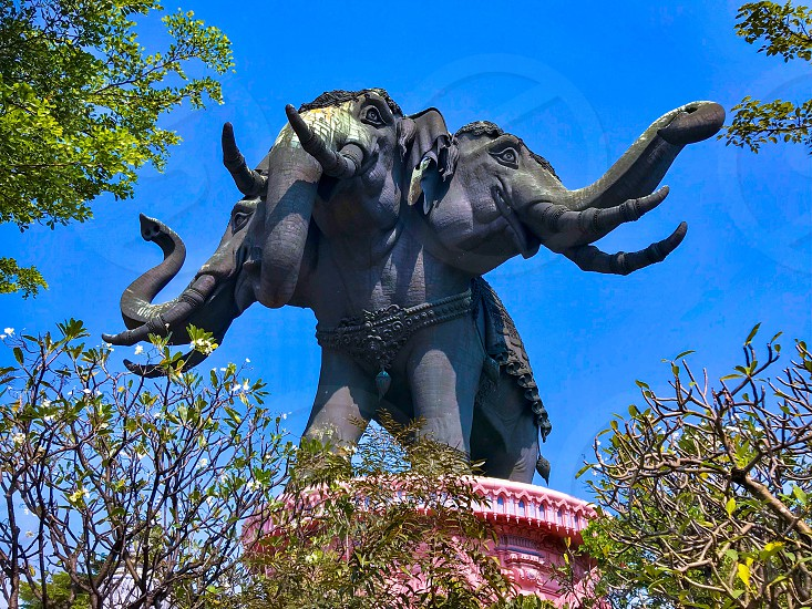 Erawan Museum a well known museum inside a building with giant three-headed elephant located in Samut Prakan Province Thailand exhibiting antiquities and priceless collections of ancient religious objects photo