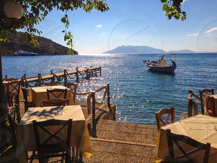 Dining with the perfect scenery in Epidarus Greece photo