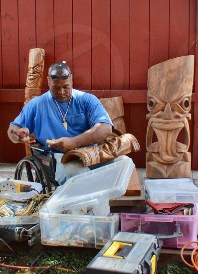 Hawaiian Woodcarver  photo