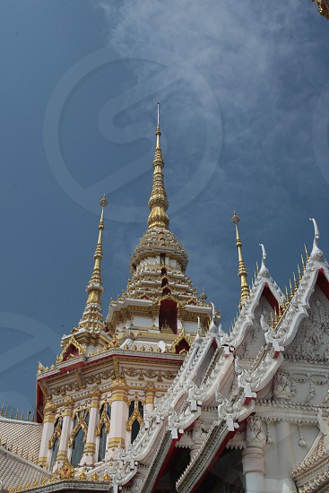 a new Wat near the city of Khorat or Nakhon Ratchasima in the Region of Isan in Northeast Thailand in Thailand. photo