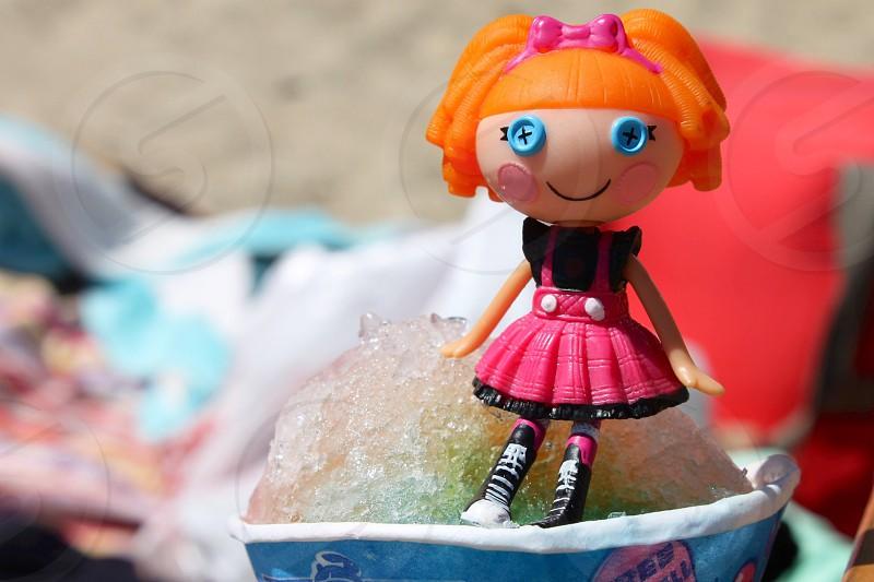 lalaloopsy doll in tilt-shift photography photo