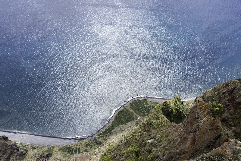 view from Miradouro do cabo Girao 550 meters above sea level to the ocean photo