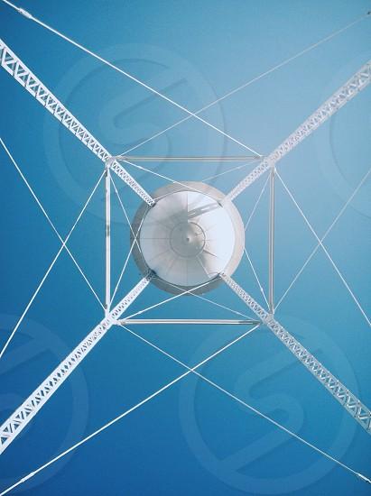 round white water tower photo