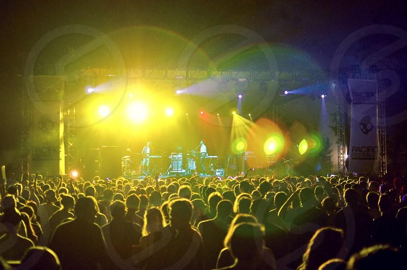 concert green lights photo
