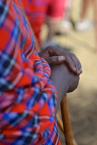 Hands of the Massai in Tanzania photo