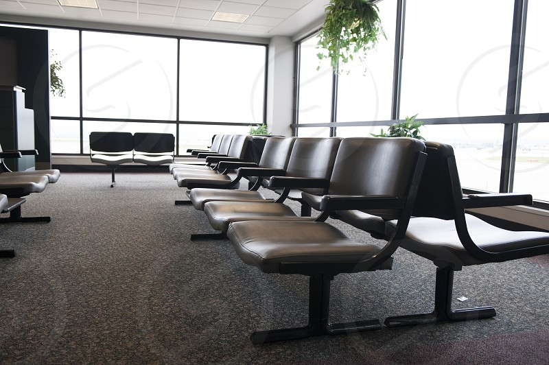 Chairs at an airport photo