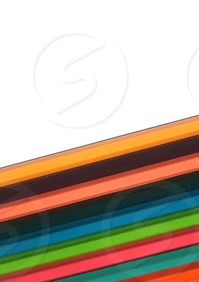 coloured pencils white background half halves split contrast photo