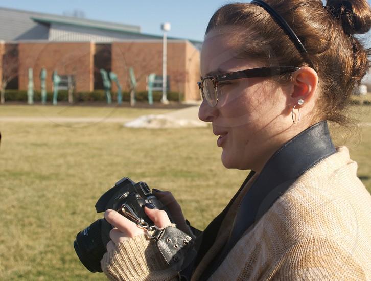 photography students students camera photo high school classes yard photo