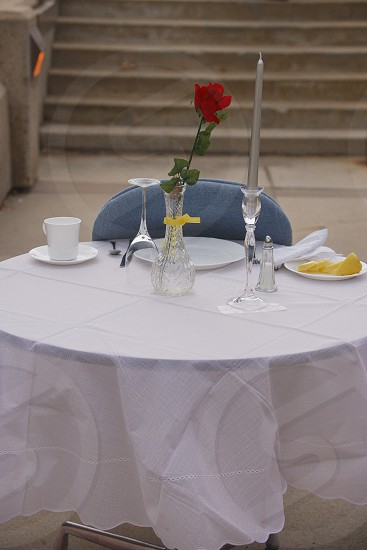 A missing man table also known as a fallen comrade table is a ceremony and memorial  set up in military dining facilities of the United States Armed Forces and during official dining functions in honor of fallen missing in action or imprisoned military service members . photo