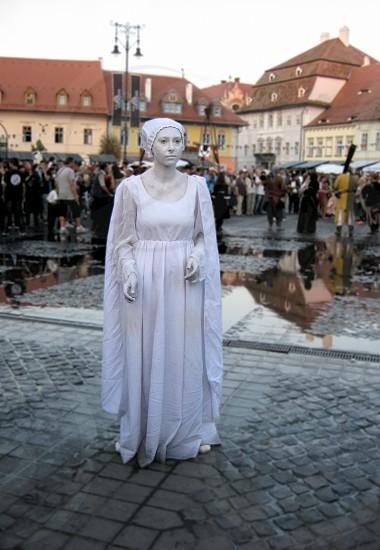 """Transylvanian Citadel"" Medieval Festival - Pantomime - Sibiu city ( European Capital of Culture 2007 ) Transylvania Romania 30-08-2014  photo"