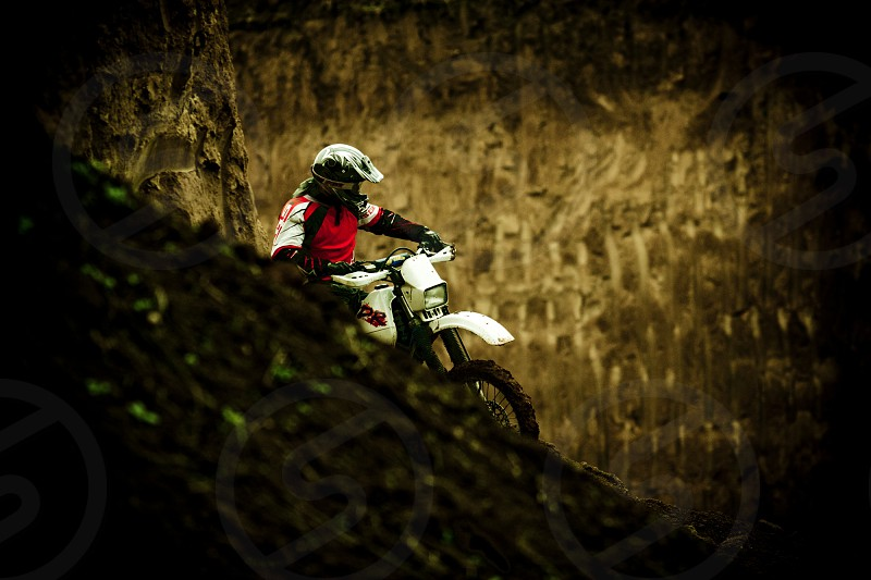 Motocross rider in deep mud photo