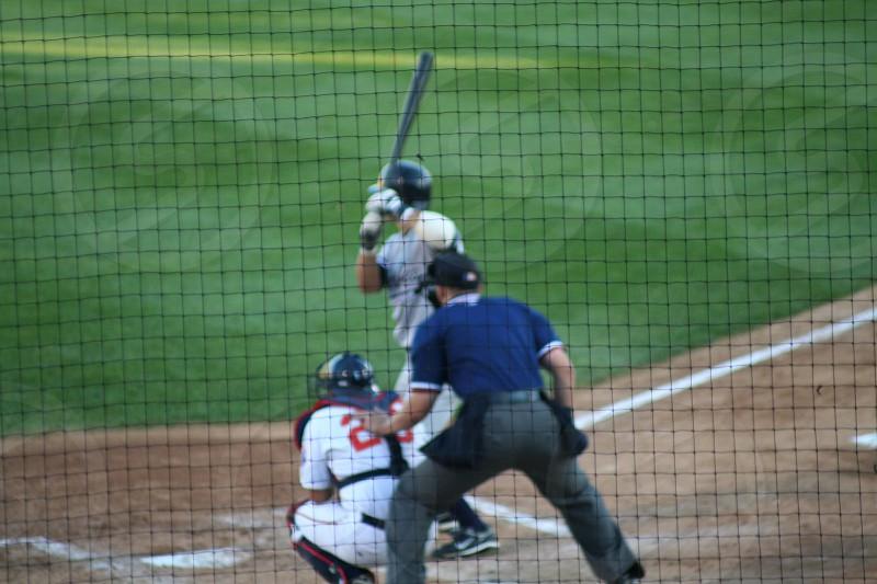 Little league baseball hitter catcher umpire  photo