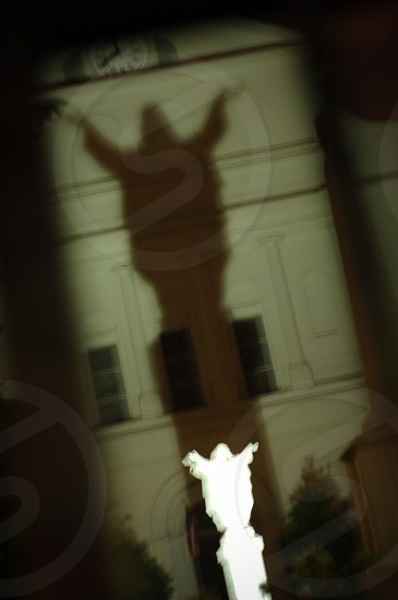 New Orleans statue shadow specter photo