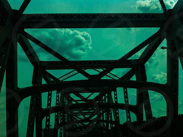 Sky blue bridge  photo