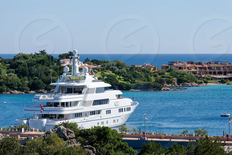 Luxury yacht in Porto Cervo Sardinia photo