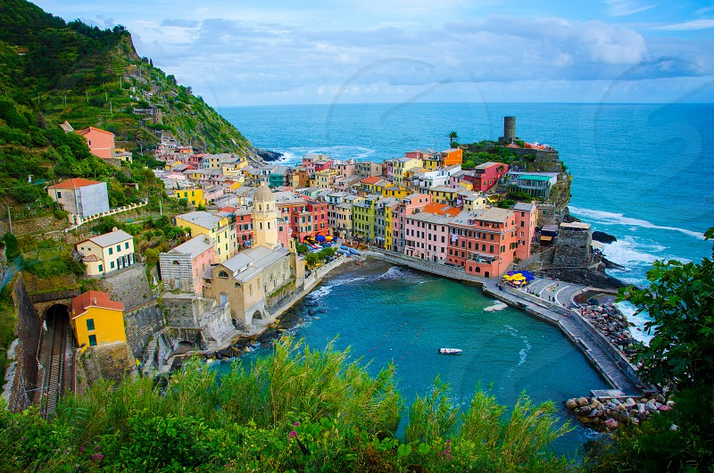 The beautiful town of Vernazza. photo