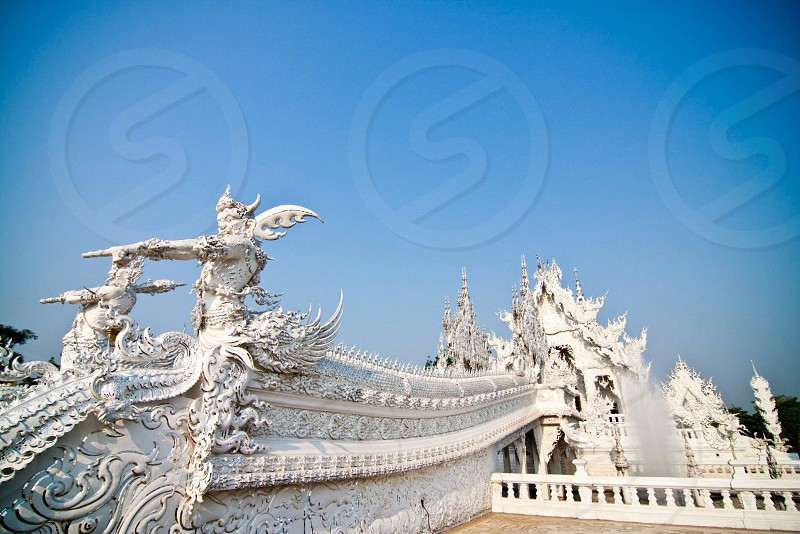 The white temple is a place of worship  photo
