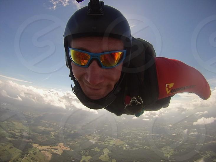 Skydive. Wingsuit. photo