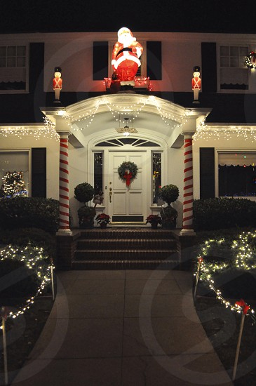 Christmas Tree Lane. Alameda CA photo