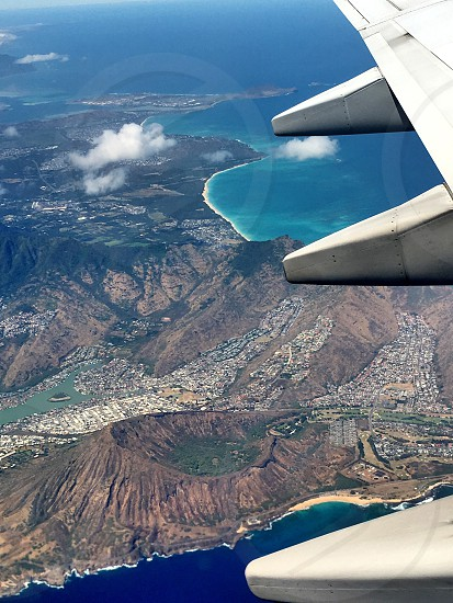 Beautiful view from plane to Hawaii photo