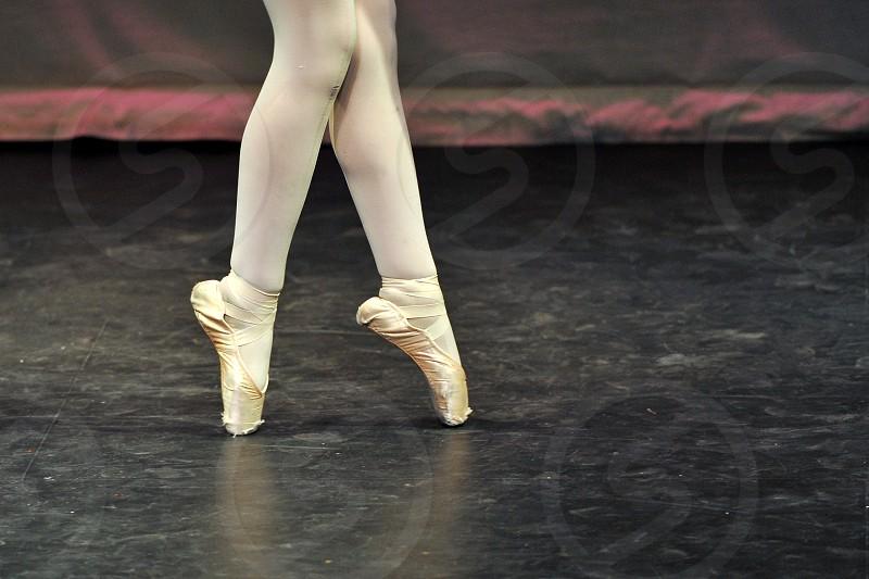 Legs of a Ballerina on Pointe photo