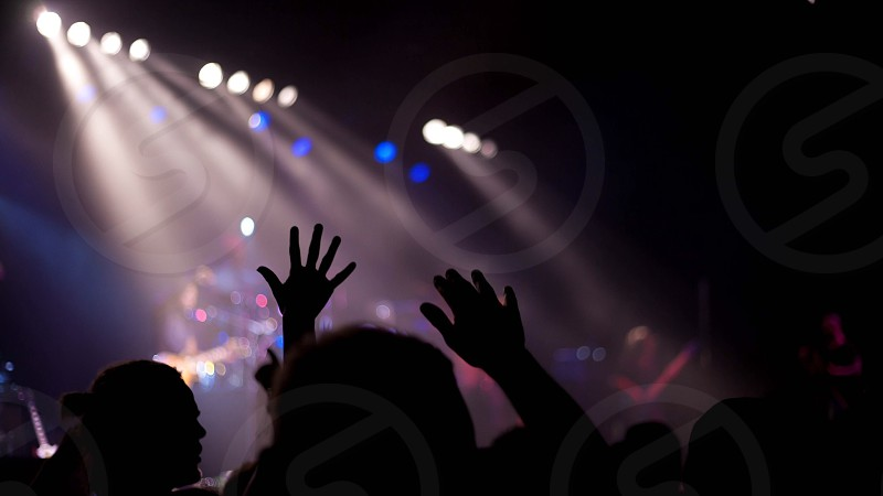 people at concert photo