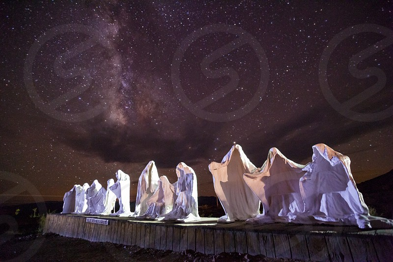 Last supper ghosts ghost town nevada death valley star trails night twilight destination travel art photo