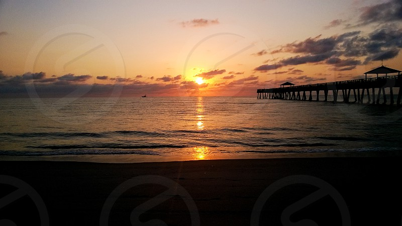 Sunrise Jubo Beach Pier photo