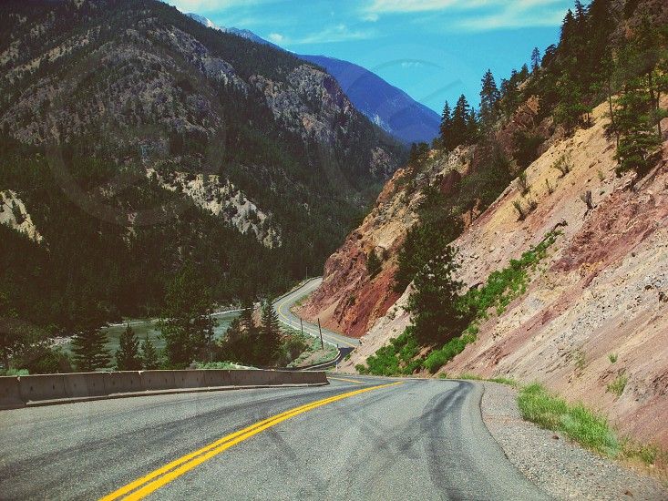 British Columbia Canada road. photo