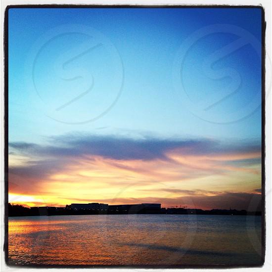 Sunset. Pandan Reservoir photo