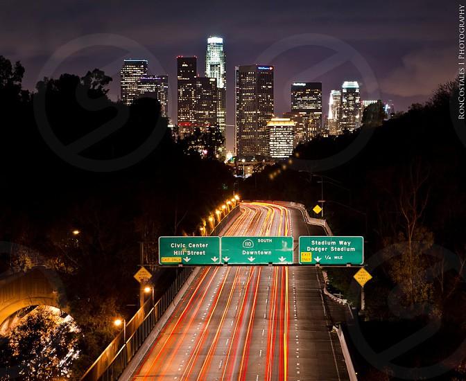 Los Angeles at Night Cityscape city at night photo