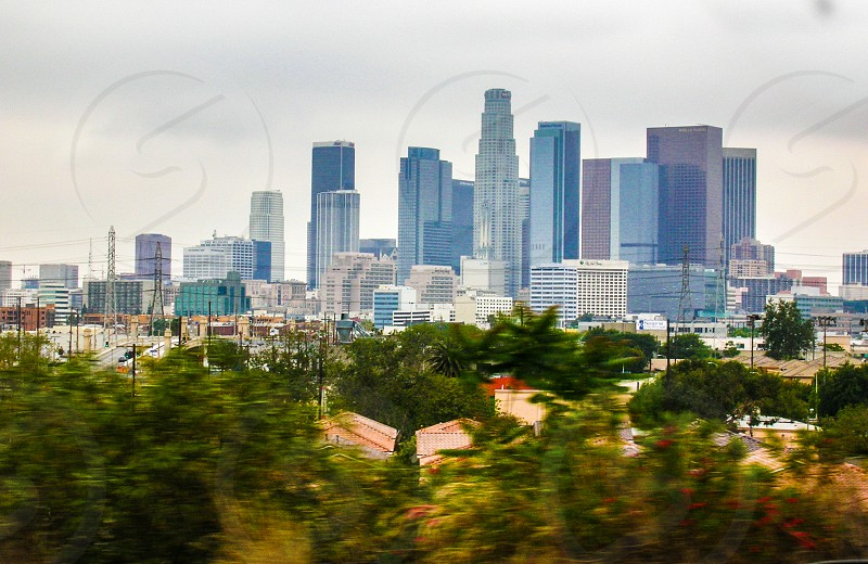 Los Angeles City from the Freeway photo