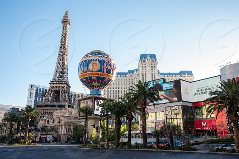 Street view of the Paris Hotel and Casino in Las Vegas. photo