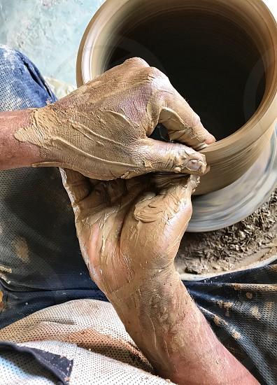 A clay pot preparation  photo