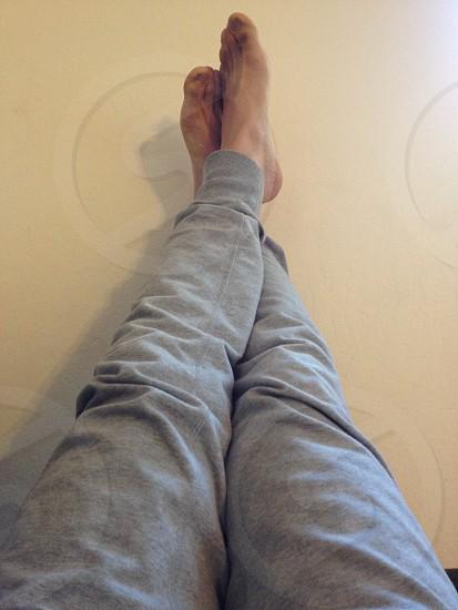 grey cotton sweatpants photo