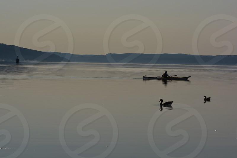man on boat photo