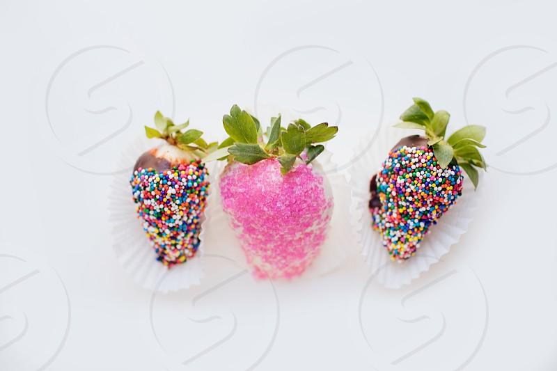 Strawberries chocolate covered strawberries  photo