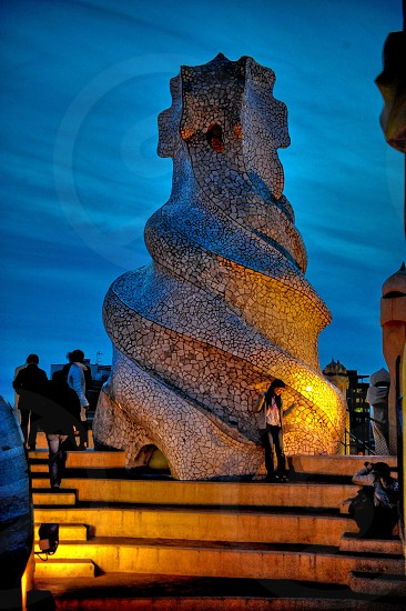 Barcelona Gaudi Chimney photo
