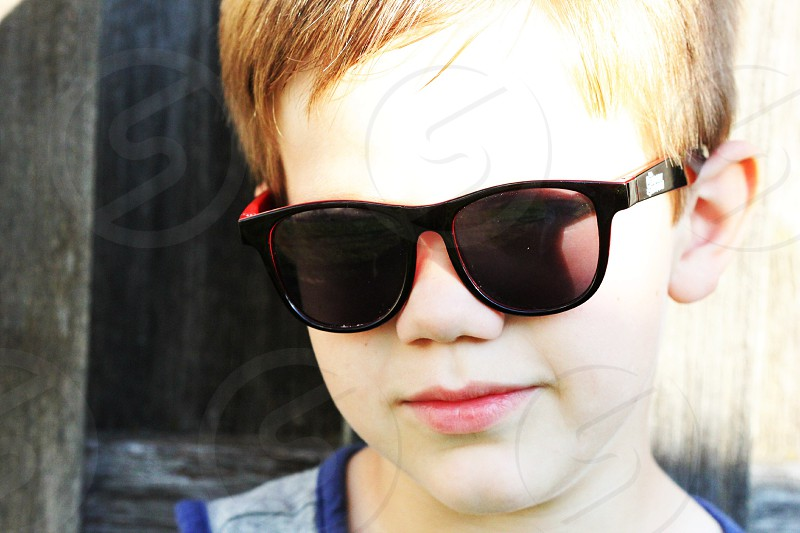 Cool kid in his shades  photo