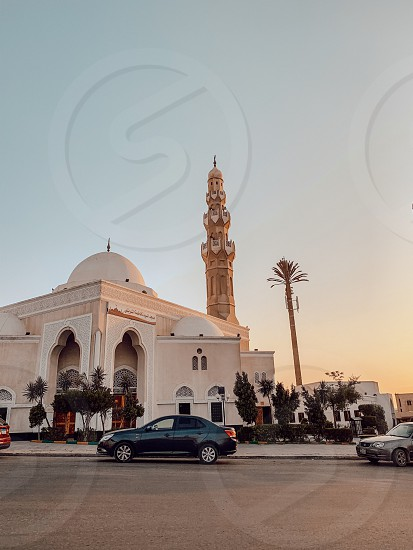 Mosque street sunset street photography  photo