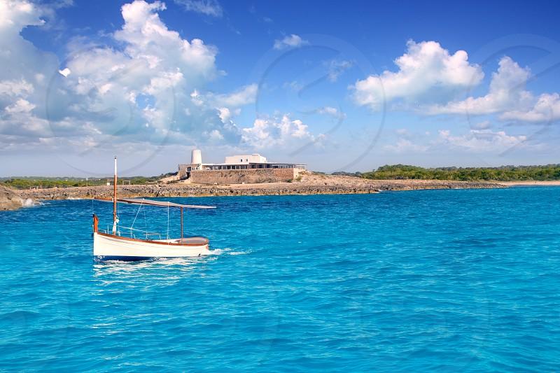 little sailboat in formentera near ibiza photo